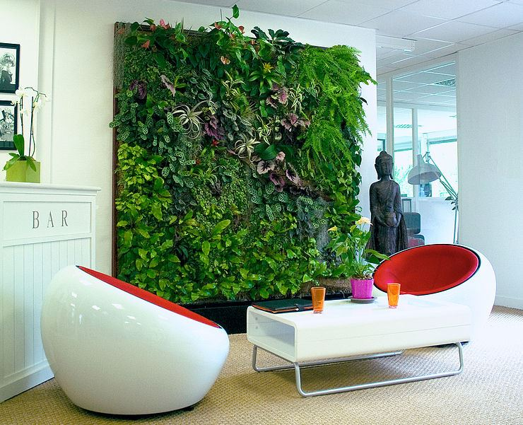 Idea hacer un jardín vertical panel interior