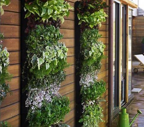 Jardín vertical de bolsas