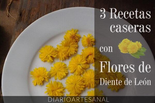 recetas con flores de dientes de león