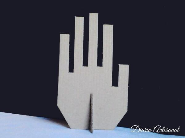 Porta anillos de carton reciclado montaje
