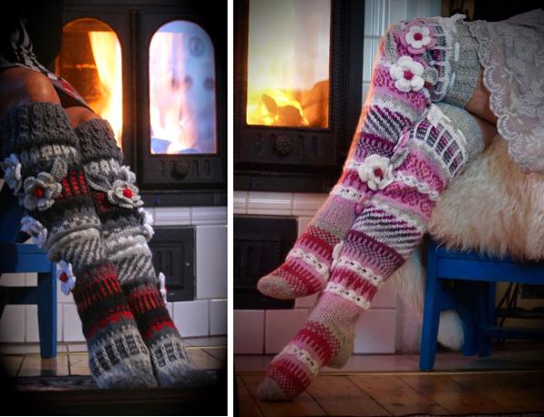 Patrones de calcetines y medias con detalles en crochet