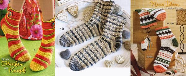 Patrones de calcetines y medias modelos varios para tejer con dos agujas