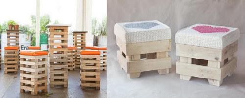 Muebles con palets modelos de banquetas