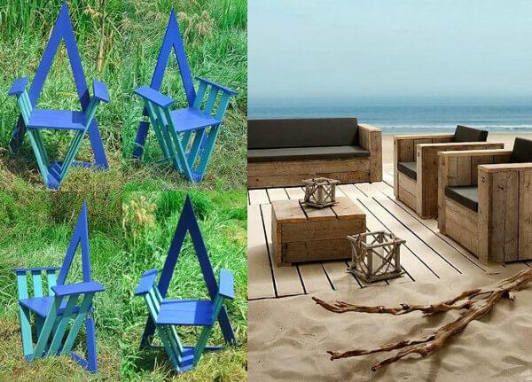 Muebles con palets para el jardín diseños originales