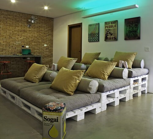 Home teather hecho con palets