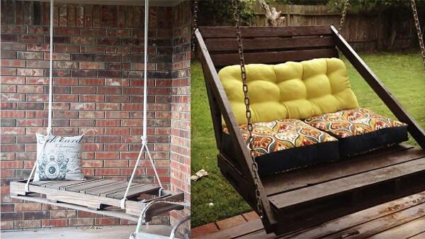 Muebles con palets 70 im genes inspiradoras de reciclaje de pal diario artesanal - Como hacer muebles de jardin con palets ...