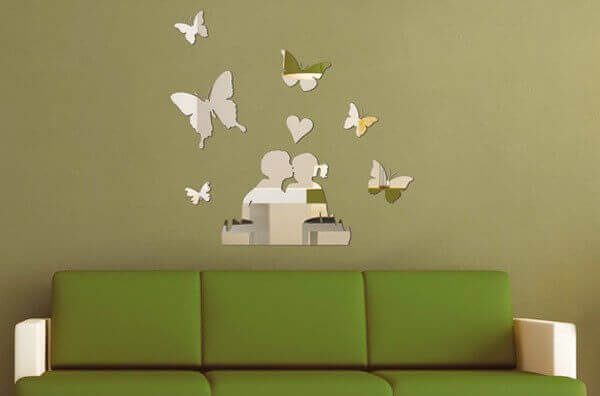 Ideas para decorar con espejos mariposas