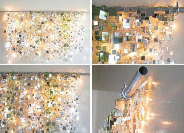 Ideas para decorar con espejos y luces de navidad