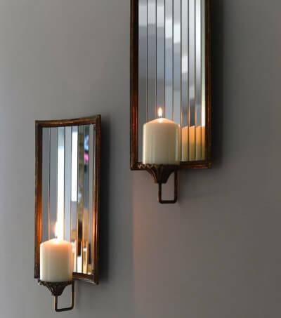 Ideas para decorar con espejos portavelas