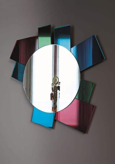Ideas para decorar con espejos marco de espejos de colores