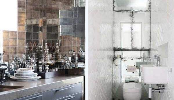 Ideas para decorar con espejos revestimiento de paredes