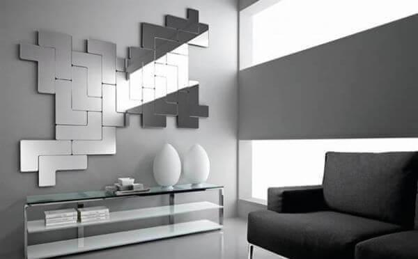 Ideas para decorar con espejos modelo tetris