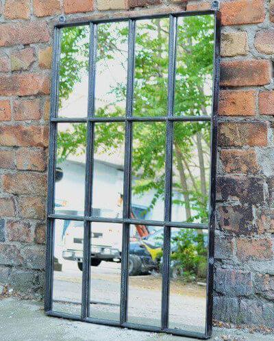 Ideas para decorar con espejos reciclaje de una ventana