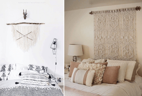 Macramé diseños de tapices decorativos