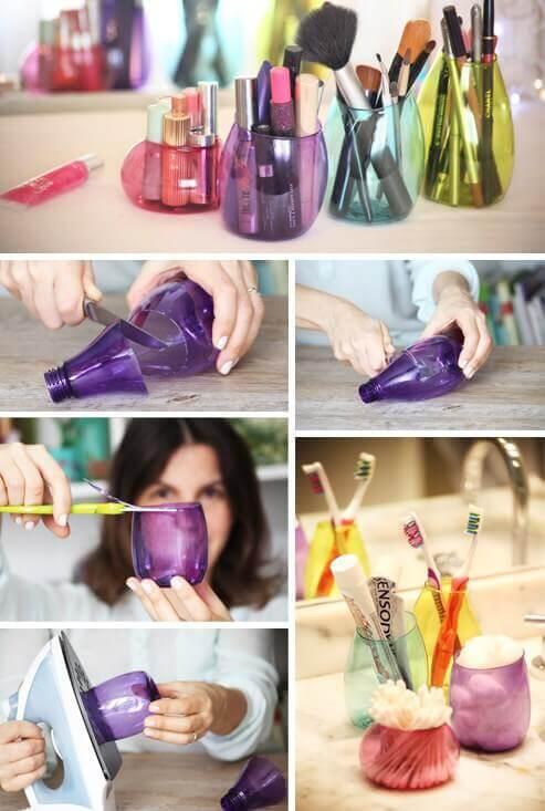 Reciclaje botellas de champú ideas cosméticos