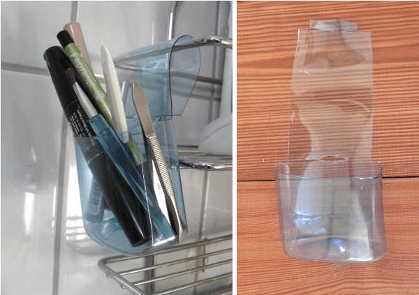 Reciclaje botellas de champú ideas organizadores