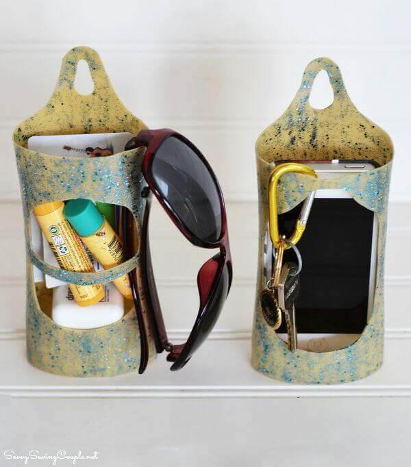 Reciclaje botellas de champú ideas portacosméticos