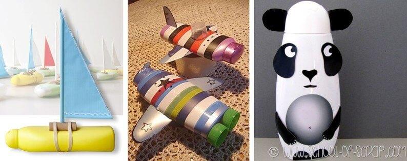 Reciclaje botellas de champú ideas juguetes