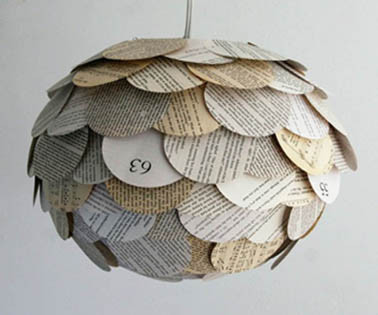 Reciclaje de papel ideas lámparas
