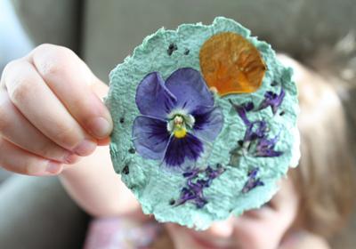 Reciclaje de papel ideas para niños