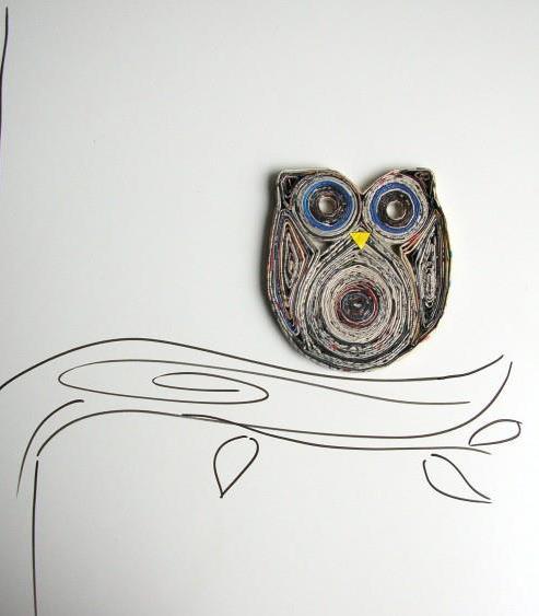 Reciclaje de papel ideas filigrana