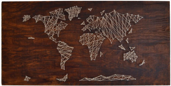 Cuadros de hilo mapamundi