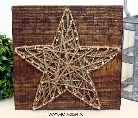 Cuadros de hilo forma de estrella