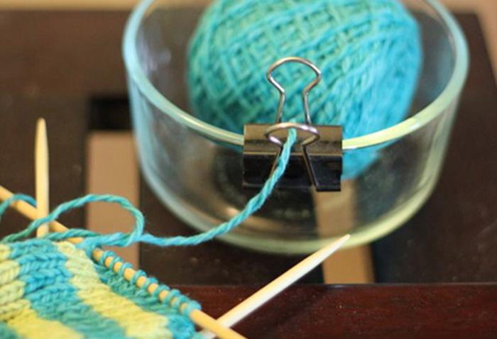 Trucos para tejer idea para la madeja de lana