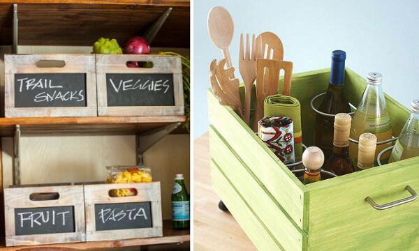 Ideas de reciclaje de cajones para la cocina