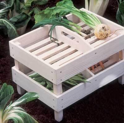 Cajones para organizar las verduras en la cocina