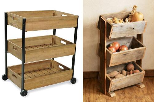 Reciclaje de cajones para la cocina tiles y hermosos for Muebles con cajones de madera