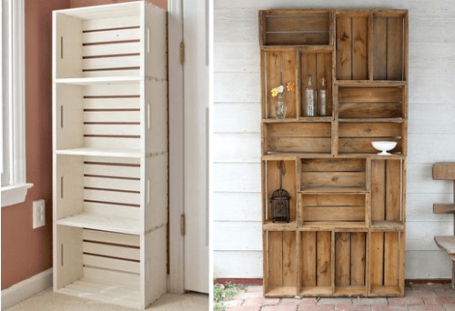 Reciclaje de cajones para la cocina tiles y hermosos diario artesanal - Cajones de fruta de madera ...