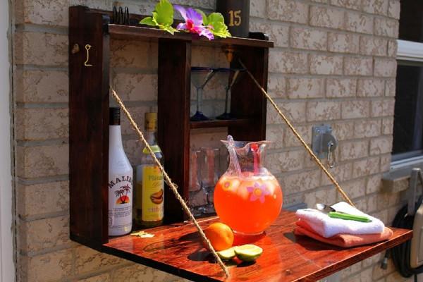 Mini bar para jardines