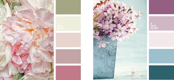 Colores vintage paleta purpura