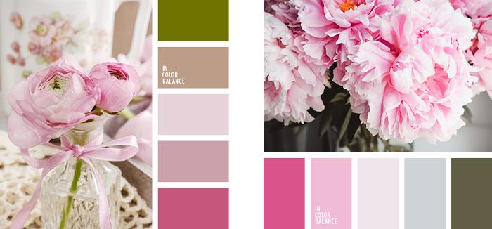 Colores vintage paleta rosas
