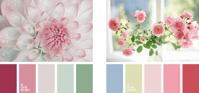Colores vintage tonos rosa