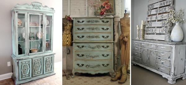 Muebles pintados decapados
