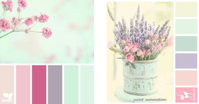 Colores vintage lila y purpura