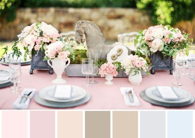Paleta de colores rosas pastel
