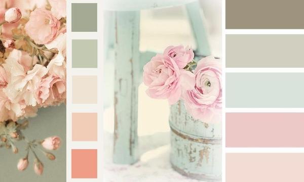 Paletas de colores para la decoracion vintage shabby