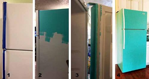 Cómo pintar una nevera
