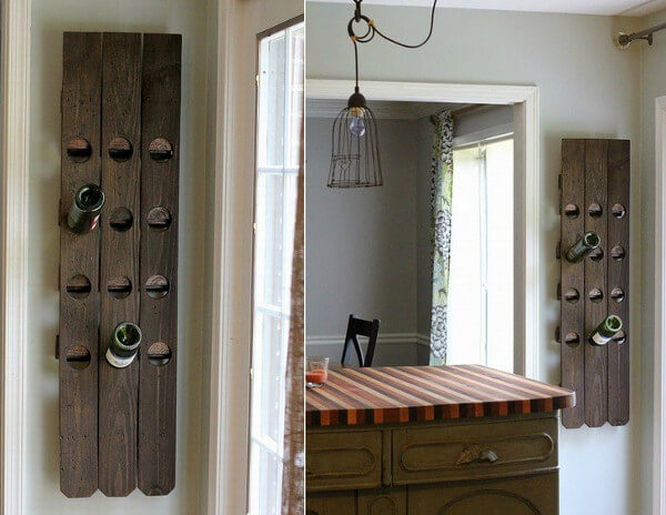 Portavinos madera decorativo