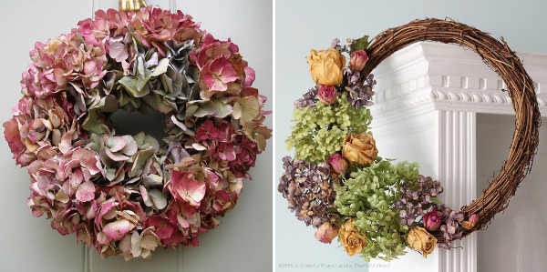 Coronas de hortensias para un estilo shabby chic