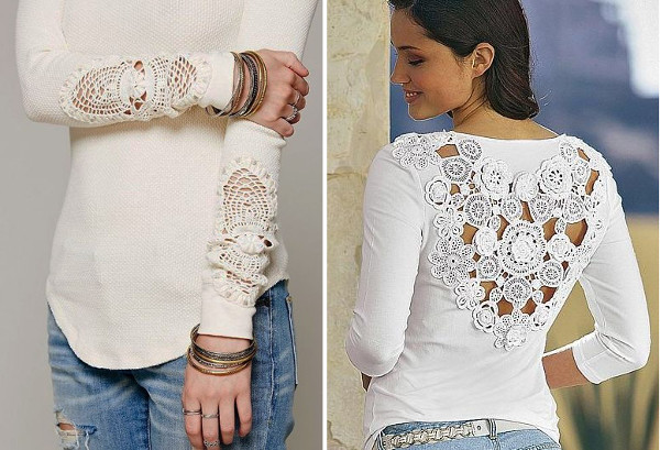 Renovar ropa vieja con tejidos ganchillo