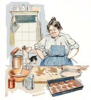 Cocinar galletas imagen vintage