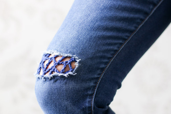 Parche crochet reciclando ropa