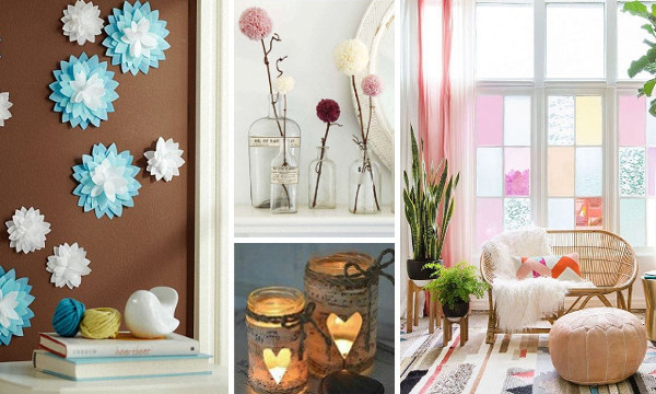 60 manualidades f ciles y originales para decorar tu hogar for Adornos originales para decorar casa