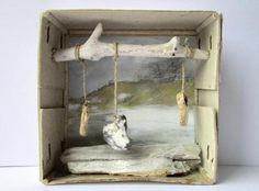 Diorama con elementos marinos