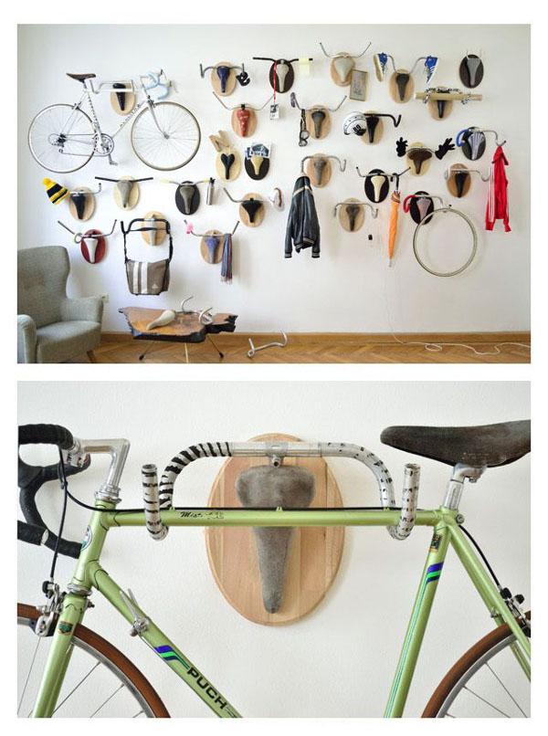 Idea para colgar bicicletas