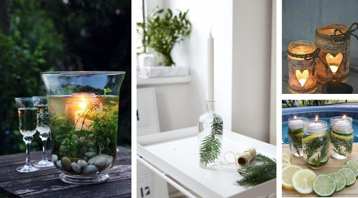 Manualidades faciles con velas en frascos